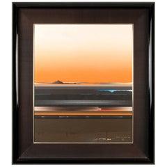 Abstract Oil on Canvas by Tetsuro Sawada, circa 1982