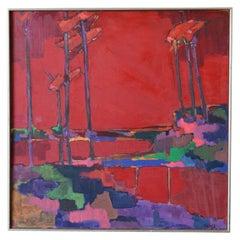 Abstract Oil on Canvas, circa 1965