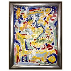 Abstract Oil on Canvas Painting by Colow B. Dated 1984