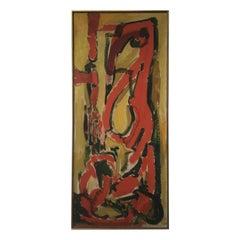 Abstract Oil on Canvas Signed Juliana Penn