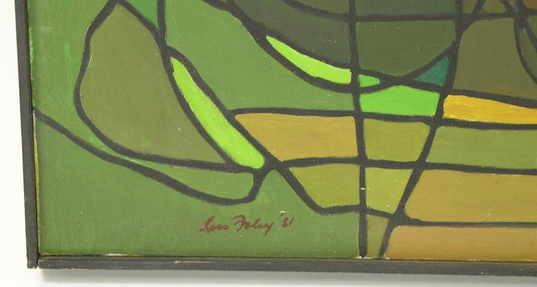 Abstract Oil on Canvass Painting by Noted Vermont Artist Lois Foley '1981' In Good Condition For Sale In New York, NY