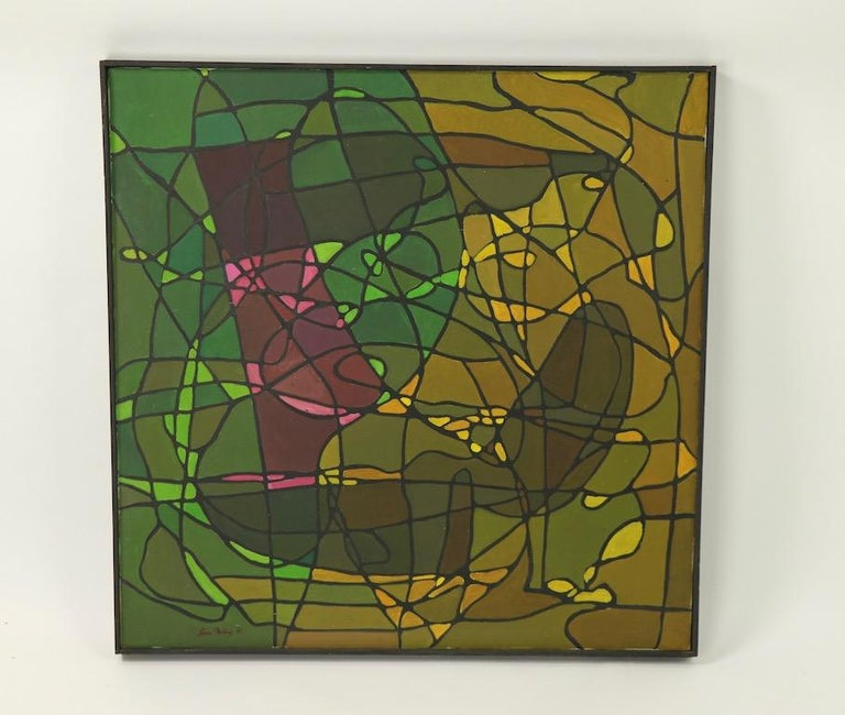 20th Century Abstract Oil on Canvass Painting by Noted Vermont Artist Lois Foley '1981' For Sale