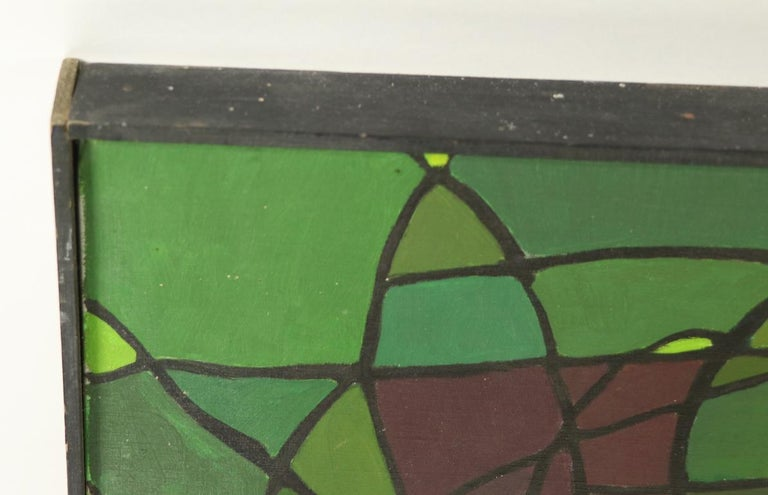 Abstract Oil on Canvass Painting by Noted Vermont Artist Lois Foley '1981' For Sale 1