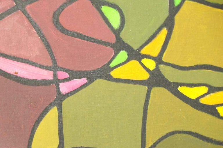 Abstract Oil on Canvass Painting by Noted Vermont Artist Lois Foley '1981' For Sale 3