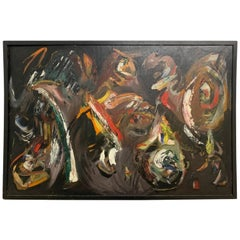 Abstract Oil Painting by Jack Albert Wilson, 1963