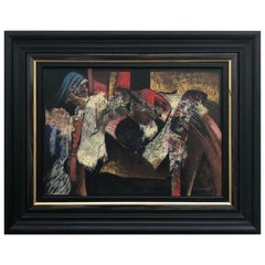 Abstract Oil Painting by Margaret Castelow, 'The Dressing Room', circa 1980
