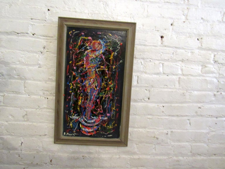 Other Abstract Oil Painting by R. Monti For Sale
