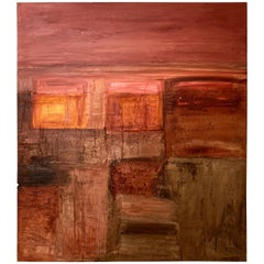 "Abstract Oil Painting, ""Mirages du Desert"" by Lebanese Artist Nada Eido"