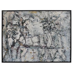 Abstract Outsider Art Oil Painting on Canvas