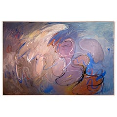 "Abstract Painting ""Blues Fantasy"" by Merton Simpson"