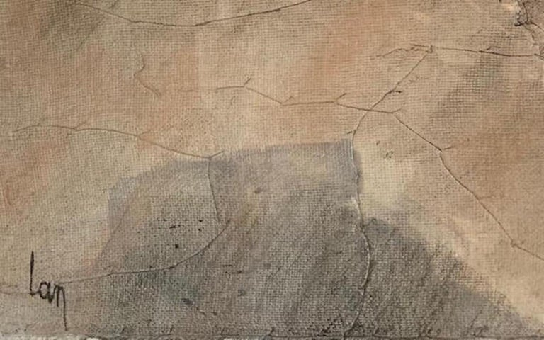 Cotton Abstract Painting by Belgian Artist Diane Petry, Belgium, Contemporary For Sale