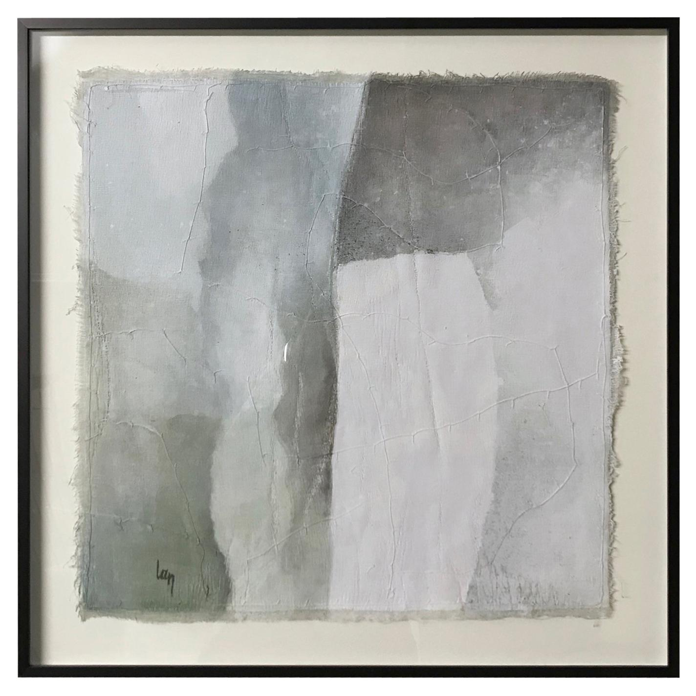 Painting by Belgian Artist Diane Petry, Shades of Grey, Belgium, Contemporary