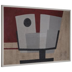 Abstract Painting by B.J. Helders, the Netherlands, 1968
