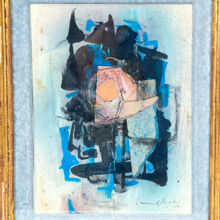 Mexican Abstract Painting by Canadian Painter Frank Leonard Brooks For Sale