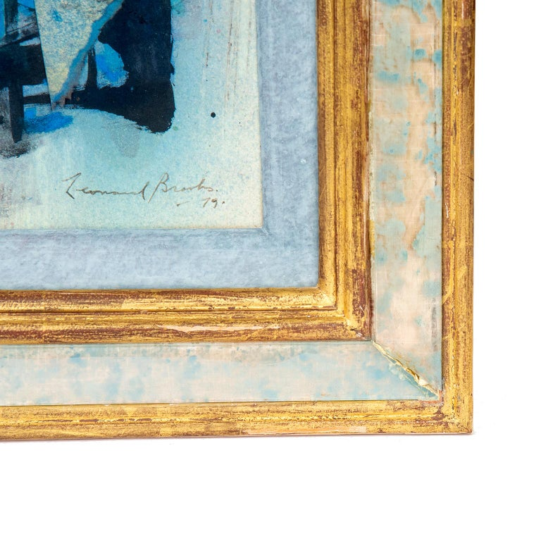 Hand-Painted Abstract Painting by Canadian Painter Frank Leonard Brooks For Sale