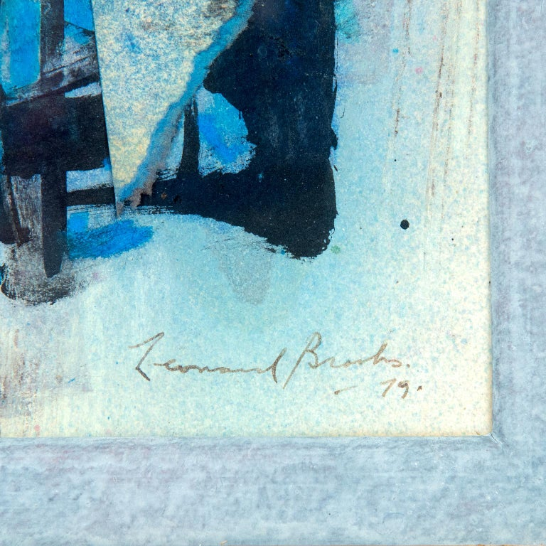 Abstract Painting by Canadian Painter Frank Leonard Brooks In Good Condition For Sale In Toronto, ON