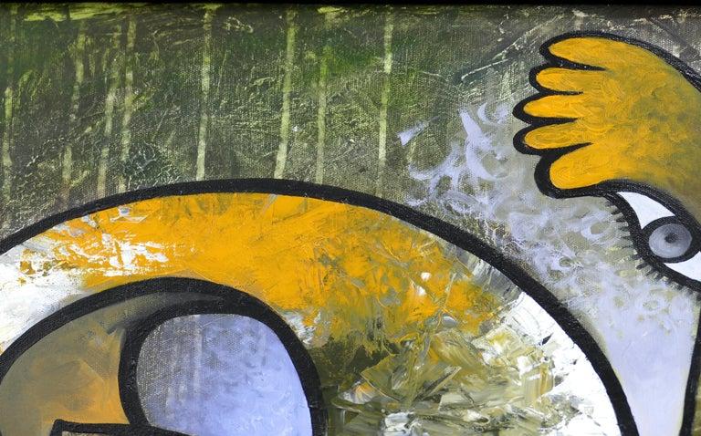 Modern Abstract Painting by Cuban Artist Hiremio Santaolaya
