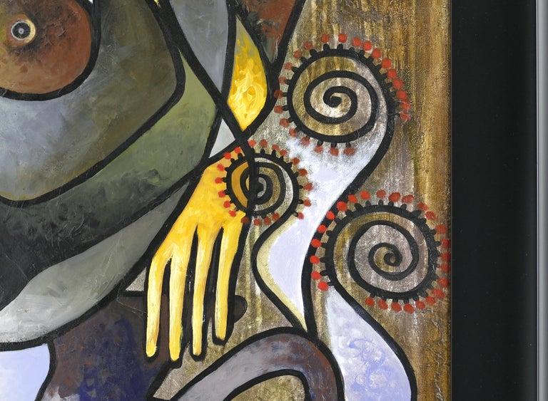American Abstract Painting by Cuban Artist Hiremio Santaolaya