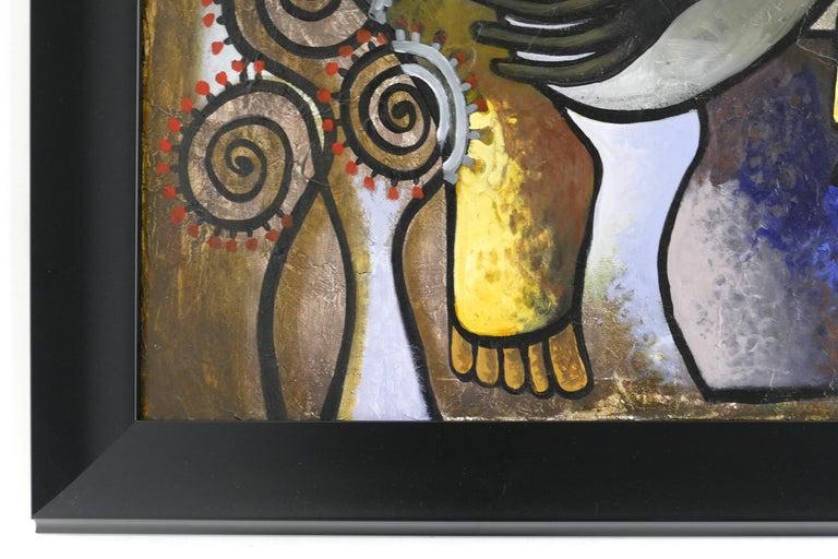 Abstract Painting by Cuban Artist Hiremio Santaolaya