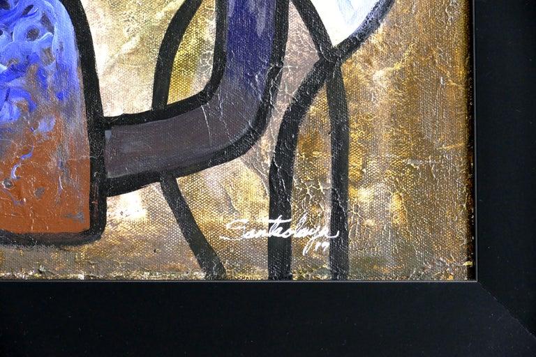 Contemporary Abstract Painting by Cuban Artist Hiremio Santaolaya