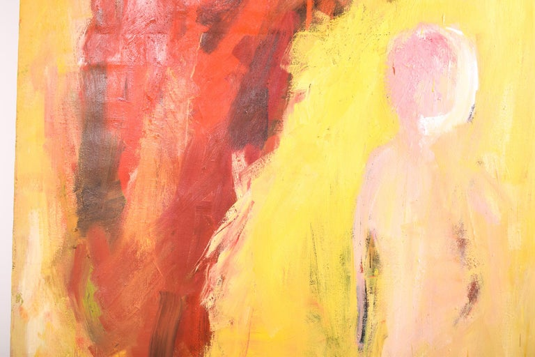 Painted Abstract Painting by Danish Artist M. Thomsen in 1994 For Sale