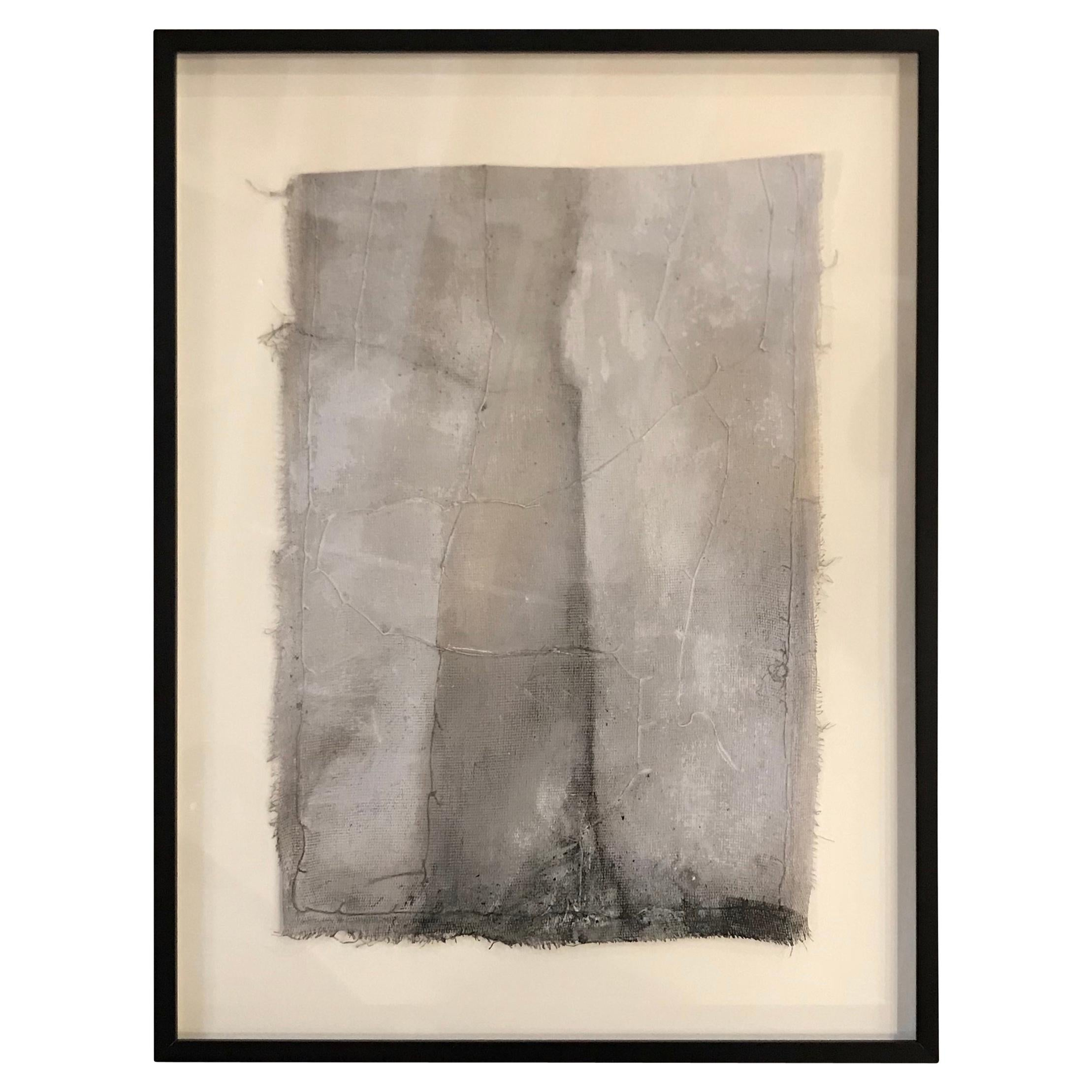 Shades of Grey Abstract Painting by Diane Petry, Belgium, Contemporary