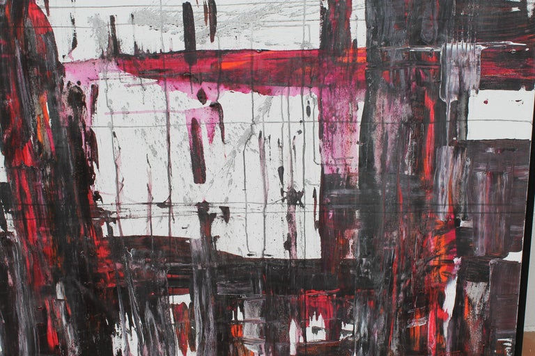 Abstract acrylic painting on canvas by contemporary artist Jeff House. Painting measures 48