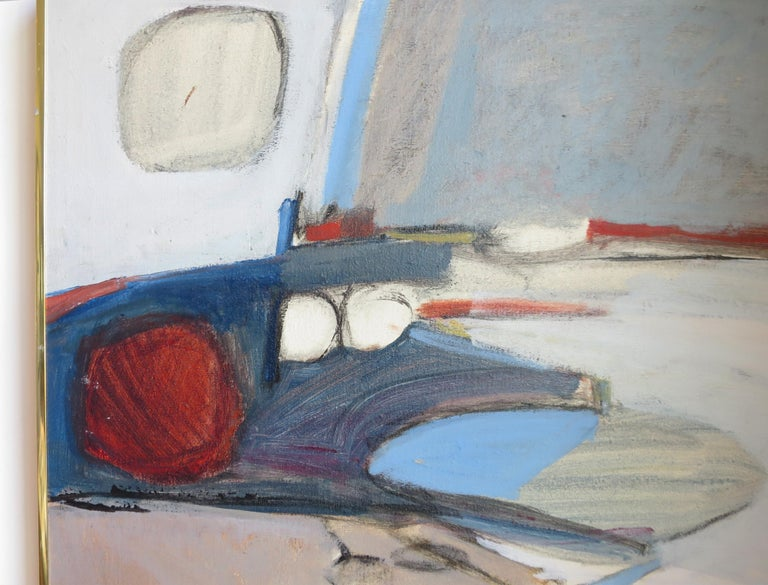 Mid-Century Modern Abstract Painting by Jimmy Leuders For Sale