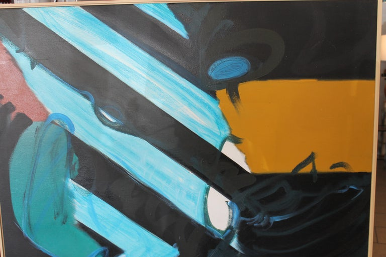 Late 20th Century Abstract Painting by Kyle Glenn For Sale