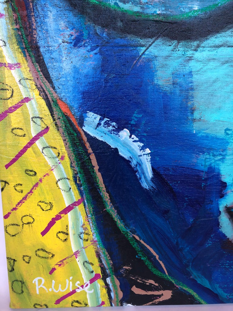 Painted Abstract Painting by Rodrigo Wise For Sale