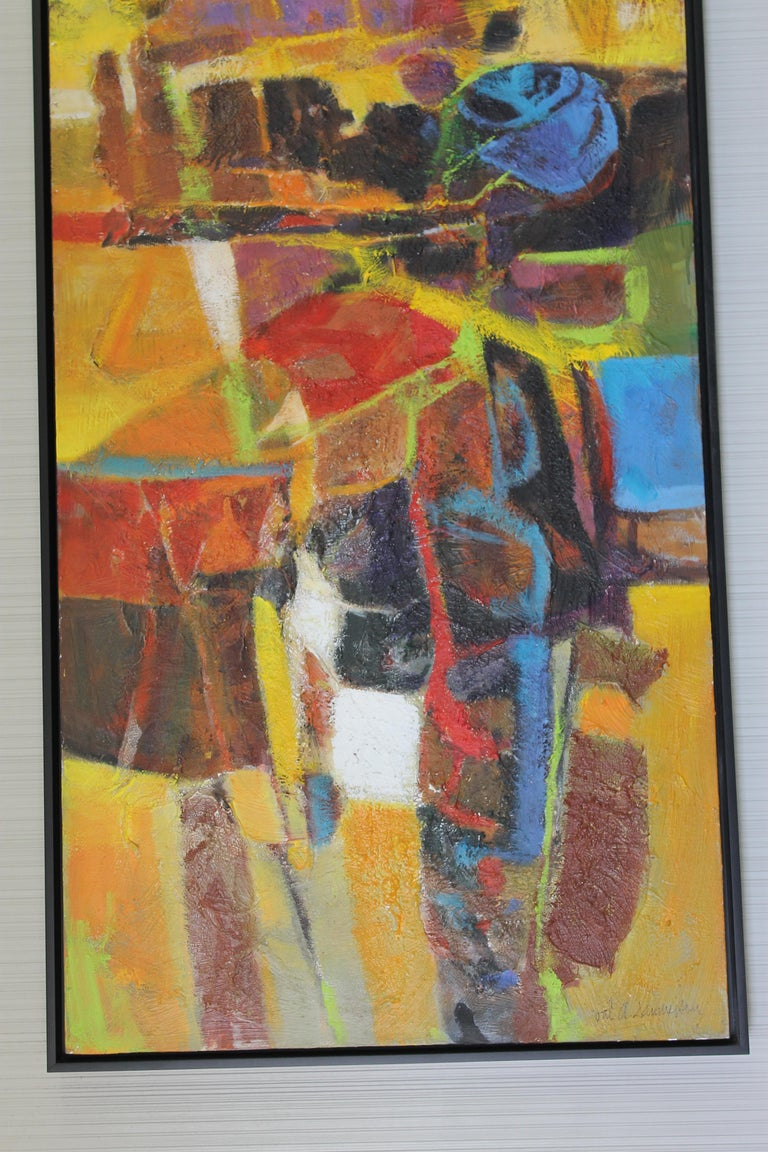 American Abstract Painting by Val Samuelson For Sale