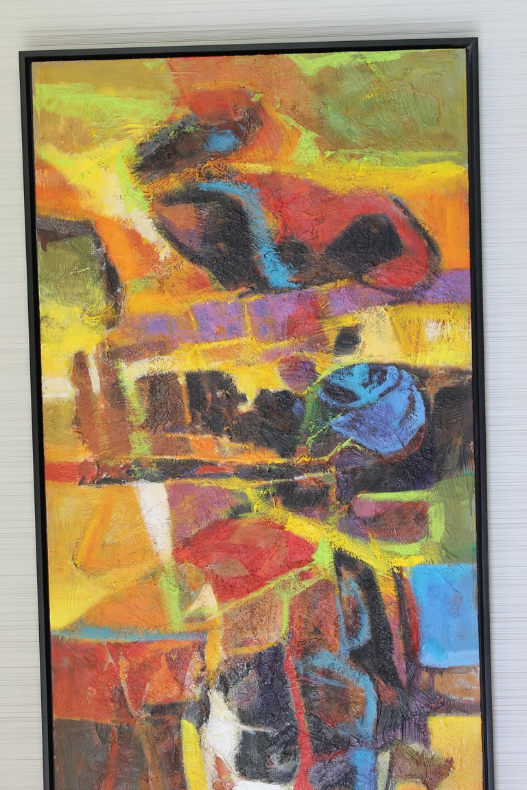 Oiled Abstract Painting by Val Samuelson For Sale