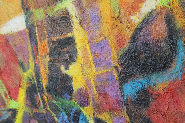 Abstract Painting by Val Samuelson In Good Condition For Sale In Palm Springs, CA
