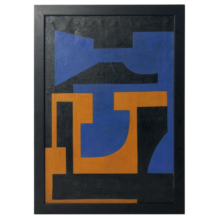 Abstract Painting by W. Klein, 1951 For Sale