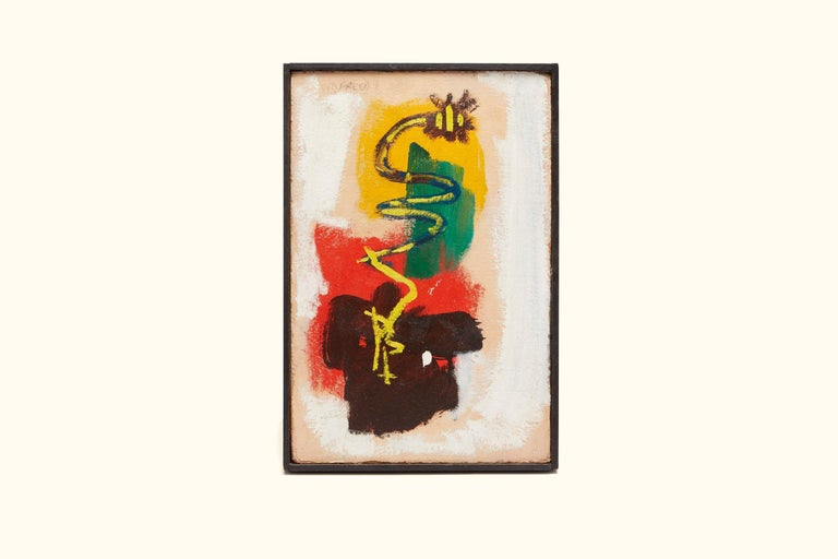 Mid-Century Modern Abstract Painting by William Freed For Sale