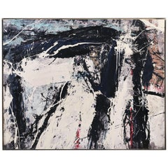 """Abstract Painting by William Phelps Montgomery """"Black Beans"""", 2019"""