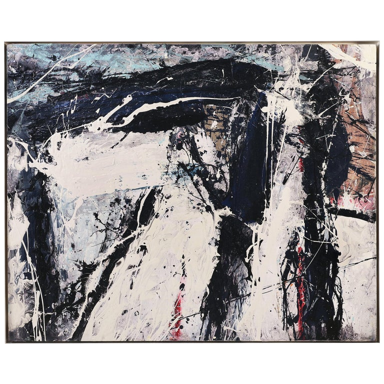 "Abstract Painting by William Phelps Montgomery ""Black Beans"", 2019 For Sale"