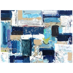 "Abstract Painting by William Phelps Montgomery ""Frolic 1"" Mixed-Media"