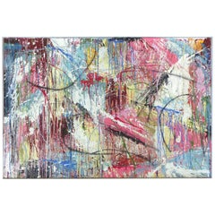 """Abstract Painting by William Phelps Montgomery """"Windy City 3"""" Mixed-Media, 2019"""