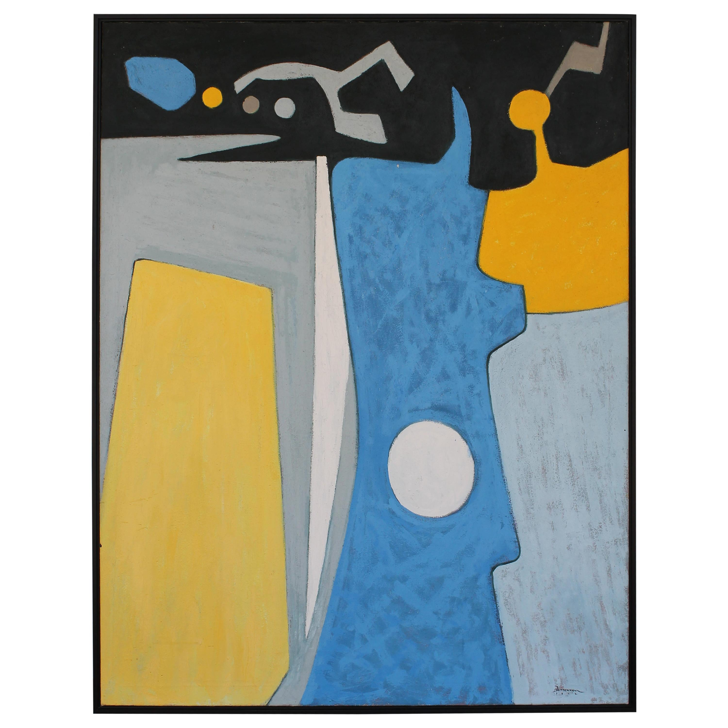 Abstract Painting, Dated 1972