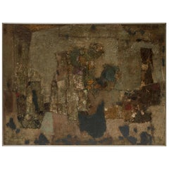 1950s Large French Abstract Painting