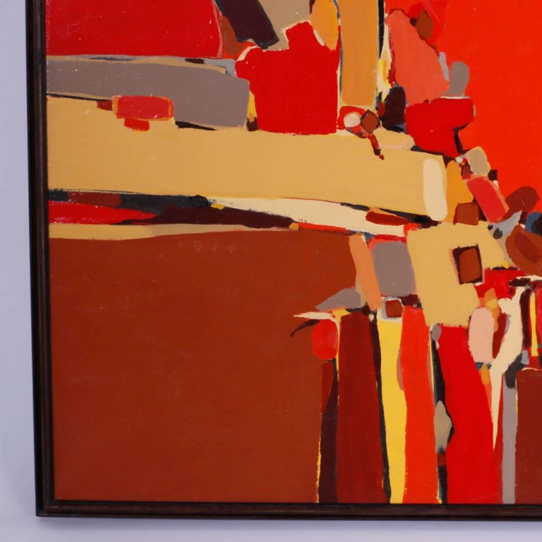 American Abstract Painting on Canvas For Sale
