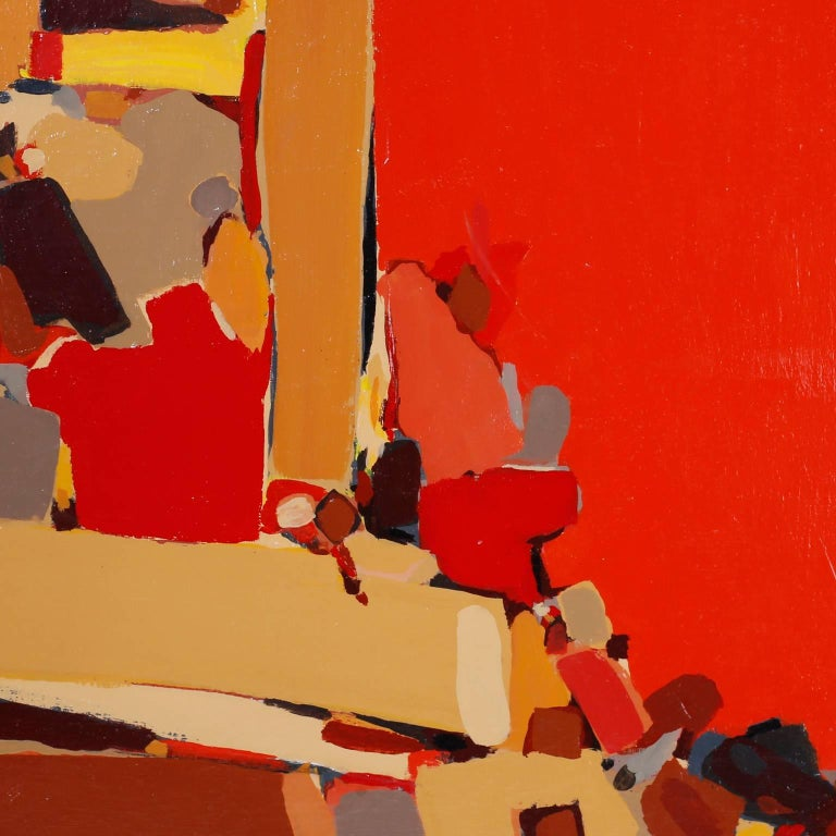 Abstract Painting on Canvas In Excellent Condition For Sale In Palm Beach, FL