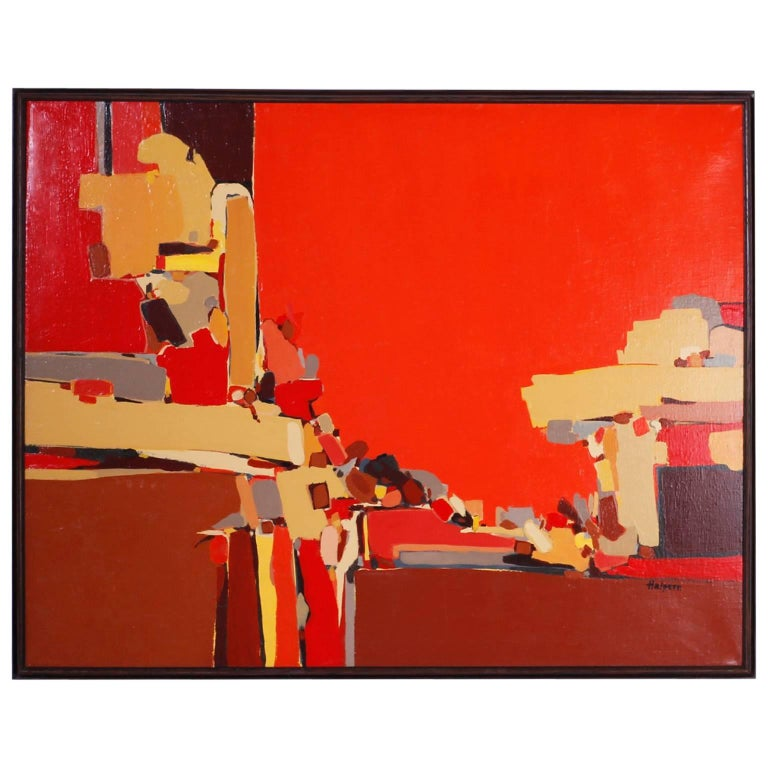 Abstract Painting on Canvas For Sale