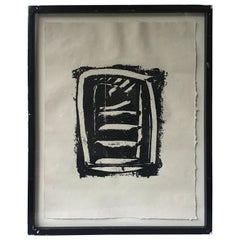 Abstract Painting on Paper by Brian Bolger, 1986