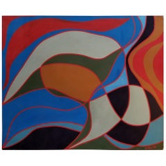Abstract Painting Signed Mack