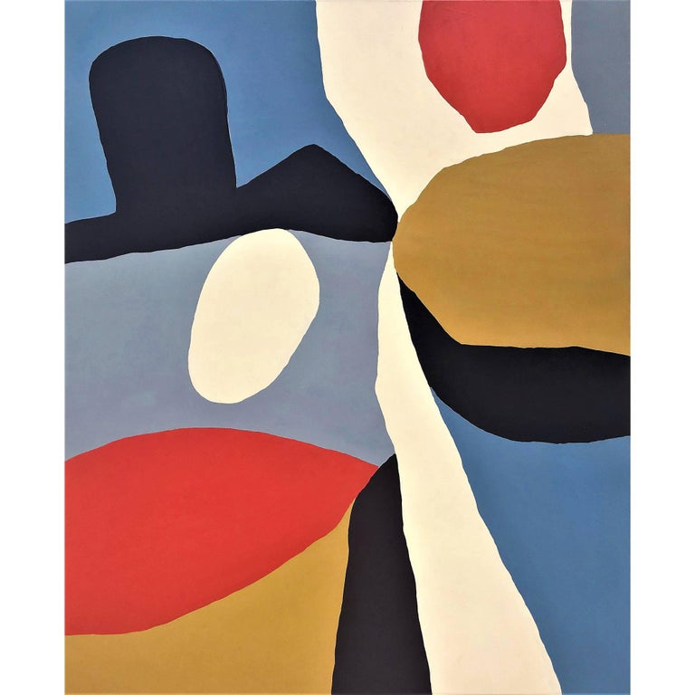 "Abstract Painting Titled ""Hombre"" by Artist John Luckett For Sale"