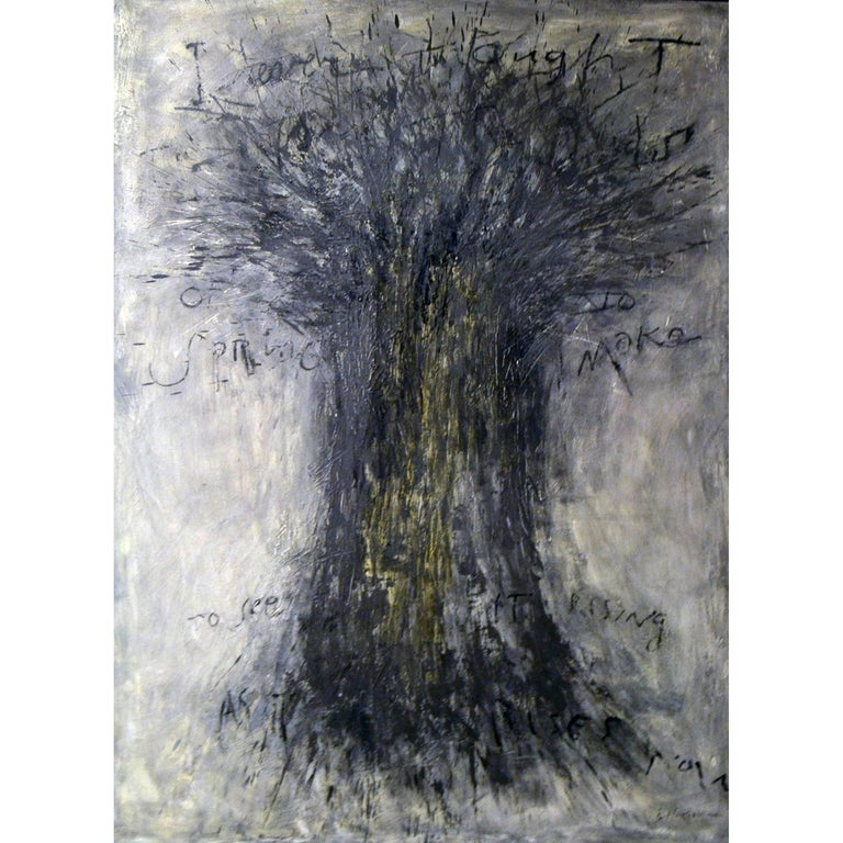 "Abstract Painting Titled ""Spring Tree"" by Brian Hagiwara For Sale"