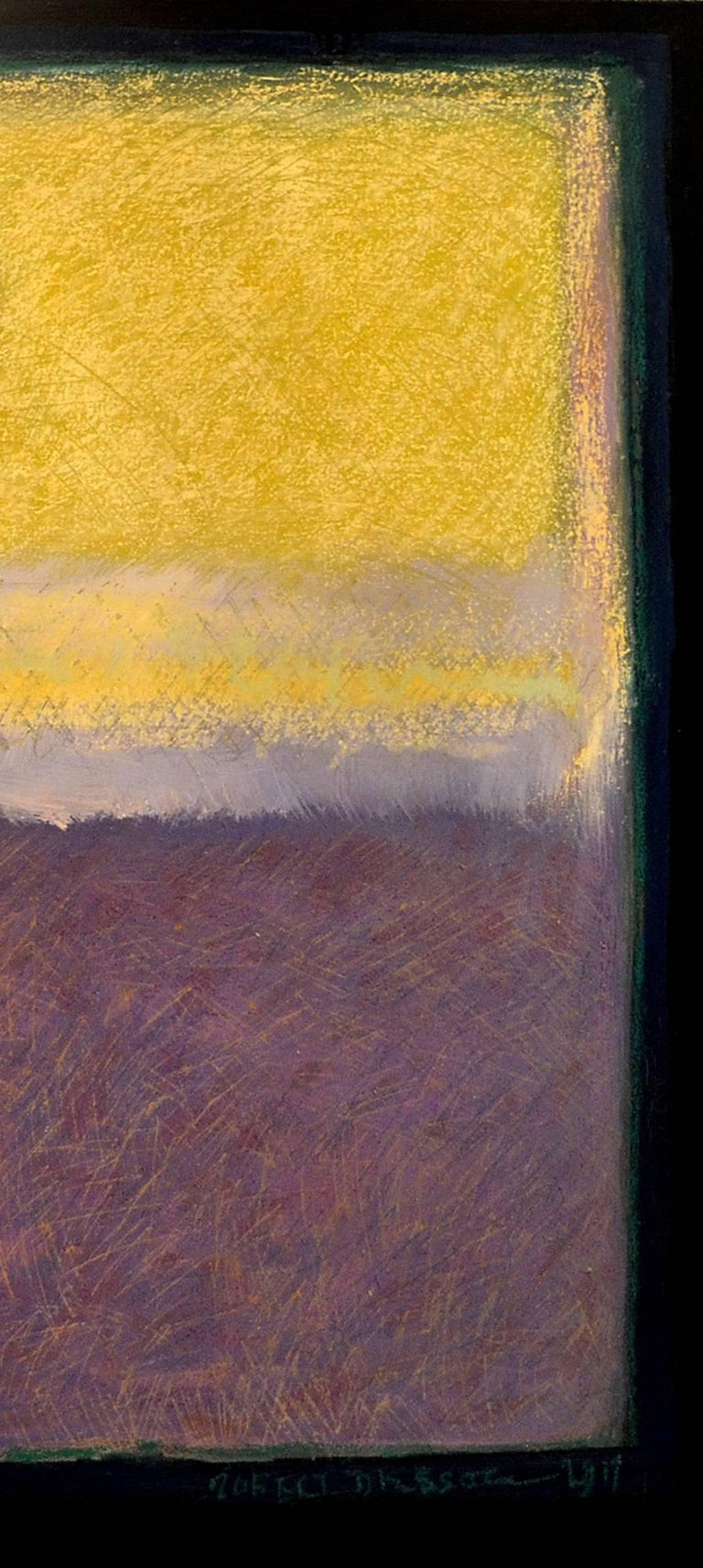 American Abstract Painting Titled Study in Yellow and Violet by Artist Robert Diesso For Sale
