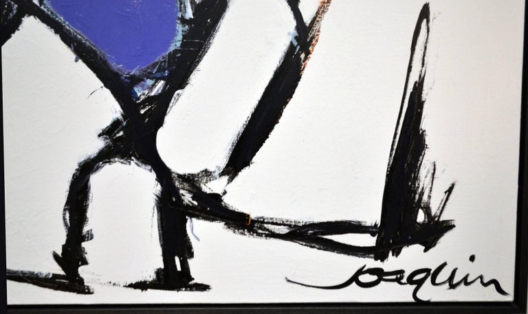 American Abstract Painting Titled Toro by Artist Kenneth Joaquin For Sale